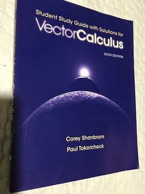 Student Study Guide With Solutions For Vector Calculus 6th Edition EBay