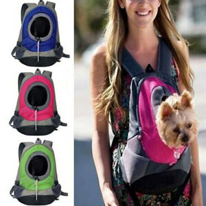 Pet Front Carrier Dog Cat Puppy Travel Bag Mesh Backpack Head out Carrier Bag S