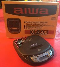Vintage AIWA Compact Portable Walkman Disc CD Player XP-500  original box +extra