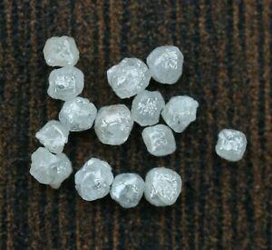Natural Loose Diamond Cubic Rough Raw Fancy White Silver Color 40 Pcs Lot Q99