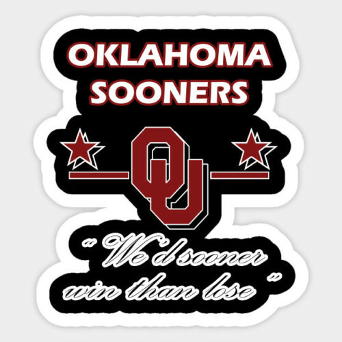 b Oklahoma Sooners vinyl sticker for skateboard luggage laptop tumblers car