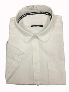 Ex-M-amp-S-Blue-Harbour-Pure-Linen-Short-Sleeve-Shirt-with-Pocket