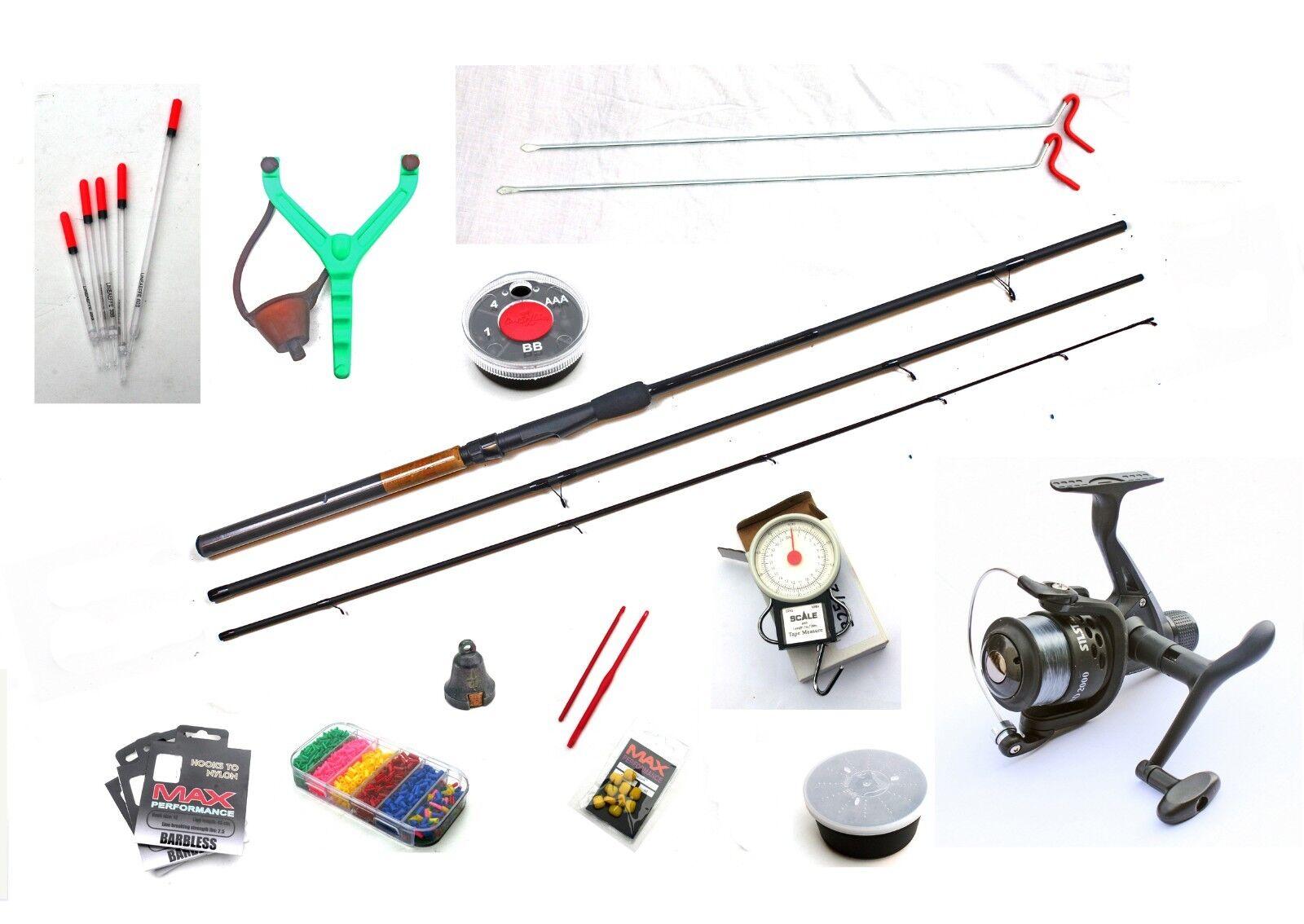 World Class Starter Course Fishing kit 12ft Rod,Reel,Floats,Line,Rod Rests etc