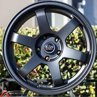 17x8 Rota Grid Wheels 5x100 +35 Flat Black Rims (set Of 4)
