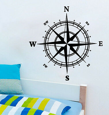 Compass Living Room Bedroom Removable Wall Sticker Decal Home Decor Vinyl Art