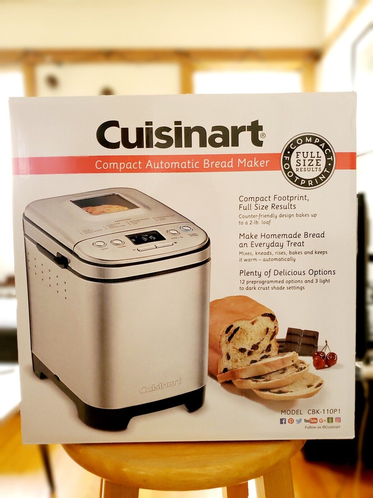 Cuisinart Cbk 110 Automatic Bread Maker Silver For Sale Online Ebay