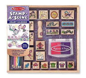Melissa-amp-Doug-Stamp-a-Scene-Fairy-Garden-2424-New-Sealed
