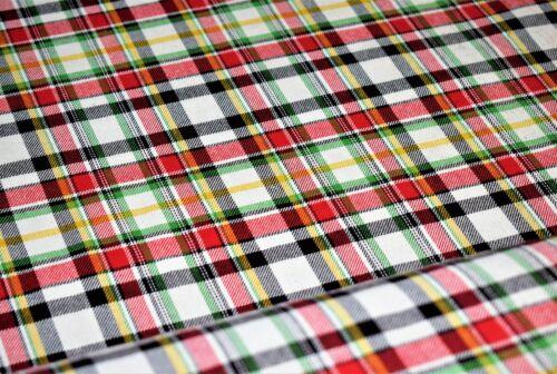 Hilado teñido Tartán Estampado a Cuadros material de tela de algodón 145 cm de ancho 2 Col
