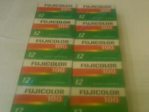 FUJI COLOR CN 100 35mm film 12exp. 5 rolls  expired 07/2010