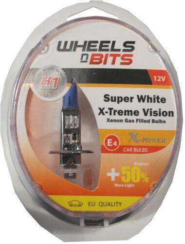 Nouveau H1 Super White Upgrade Xenon Hi//Low principal ou DIP Beam 12 V 55 W /> 100 W E Mark