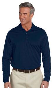 Ashworth-Men-039-s-Casual-Long-Sleeve-100-Cotton-Polo-Shirt-Tee-Top-1352