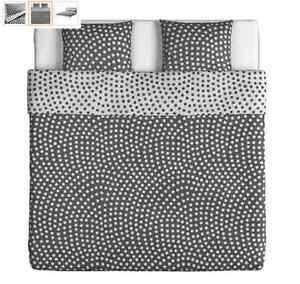 Ikea Stenklöver Bettwäscheset 3 Teilig Weiß Grau 200x200 60x70 Cm