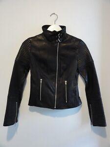 1a35cd1e83 Image is loading Kookai-Natural-Leather-Jacket-black-Size-36-monaco-