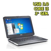 """NOTEBOOK DELL E5430 i5 4GB SSD 240GB 14"""" TASTIERA RETROILLUMINATA 3G 7 10 PRO"""