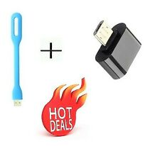 Mini USB 2.0 Micro USB OTG Adapter - Attach Pendrive Keyboard To Mobile COMBO