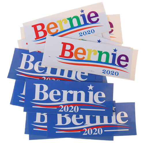 10Pcs//bag Bernie Sanders 2020 For President Car Bumper Stickers DecalsWCP