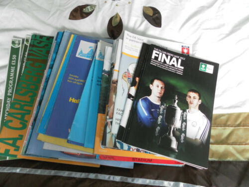 FA VASE FINAL PROGRAMME COLLECTION 1975-2012 CHOOSE FROM LIST
