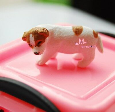 1/12 Dollhouse Miniature Animal YELLOW White Puppy Dog Cute PD65