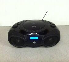 Memorex AM/FM  Portable CD Boombox MP3851BLK No AC Power Cord Broken Antenna