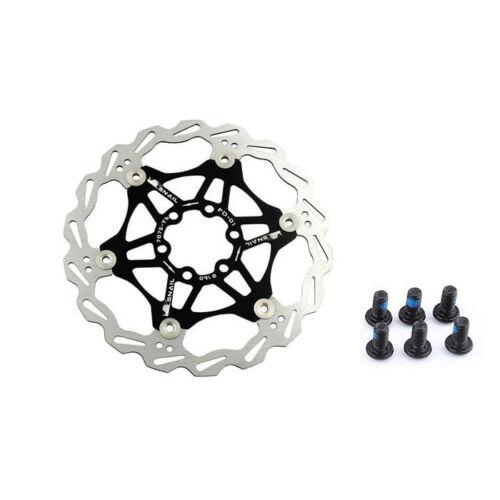 160mm Floating Rotors Stainless Steel Mountain Bike Disc Brake Rotor /& 6PCS Bolt