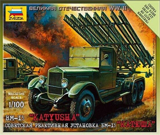 Zvezda 6128 Sowjetischer BM-13 Katiusha Raketenwerfer 1:100