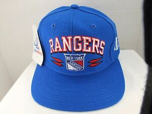 New York Rangers NHL Rare 90 s Spike VINTAGE CAP Hat NEW By Logo ... 0e92ce27f59a