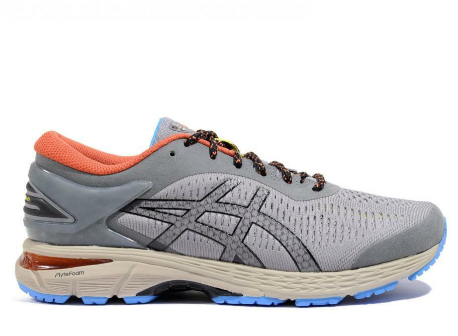 Asics GEL-KAYANO 25 GREY orange US MENS SIZES 1021A128.020