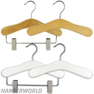 Hangerworld-Cintres-25cm-en-Bois-a-Pinces-Vetements-Hauts-Bebes-Enfants