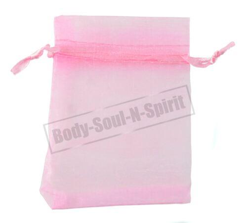 100 Pink 7x9cm Organza Sheer Drawstring Bag Birthday Wedding Party Favor Gift
