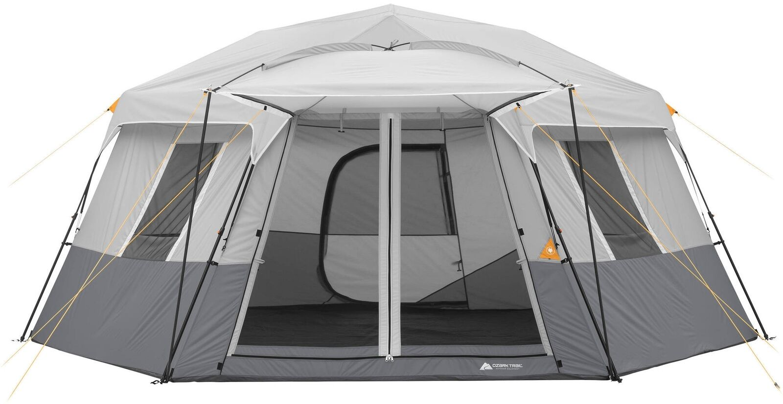 Ozark Trail 17 x 15 Person Instant Hexagon Cabin Tent, Sleeps 11 Hunting