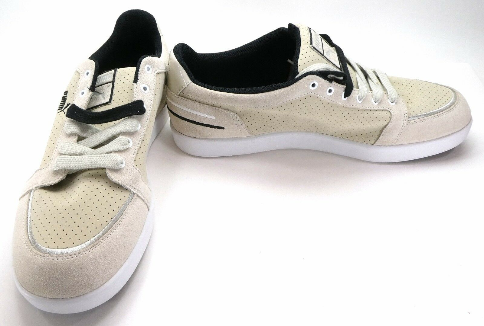 Puma shoes Trip Double Lo Suede Perforated Beige Tan Sneakers Size 12