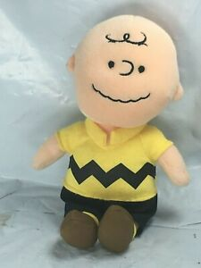Good-Grief-Charlie-Brown-Ty-Peanuts-Plush-Charlie-Brown-8-034-Yellow-Shirt-FS-EUC