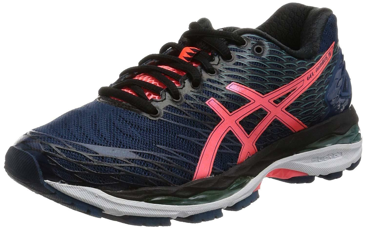 ASICS Running shoes LADY GEL-NIMBUS 18 Wide bluee Coral TJG512 US8(25cm)