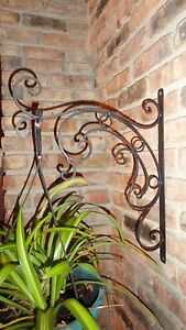 Image Is Loading Plant Hanger Garden Decor Decorative Wall Bracket Wrought