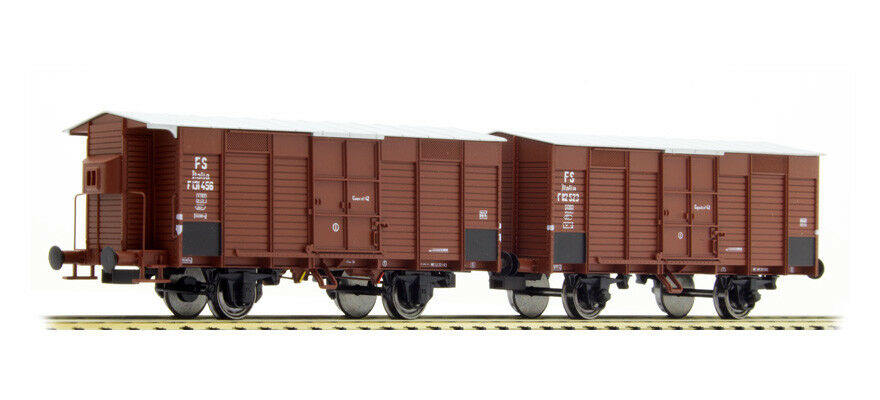 Acme 45103 Set 2 Wagons F Wall Slats Wood Horizontal short Pass, 1 Sentry Box FS