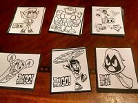 30 Teen Titans Go Color Your Own Stickers, Birthday Party Favors, Loot School