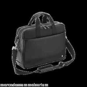 Mercedes-Benz-Original-Business-Sac-pour-Laptop-Cuir-Noir-Neuf-Emballage