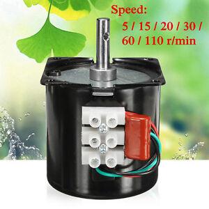 220V 14W 60KTYZ Synchronous Motor Gear Speed Reduce High Torque Permanent Magnet
