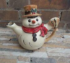 Saft Tee Wasser Kaffee Kanne Teekanne Schneemann Keramik