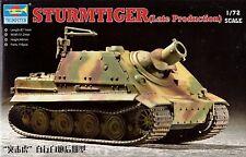 Trumpeter Sturmtiger Late Production Tank Panzer 1:72 Bausatz Kit 07247