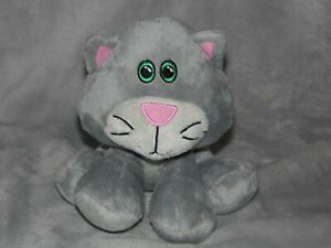 TESCO-GREY-CAT-SOFT-TOY-CUDDLE-ME-FRIENDS-COMFORTER-DOUDOU
