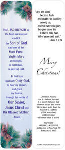 Package of 12 Christmas Nativity Prayer Bookmarks