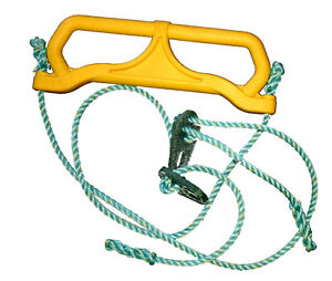 Hills-Compatible-Plastic-Trapeze-on-Rope-Yellow-Replacement-Spare-Swing-Parts