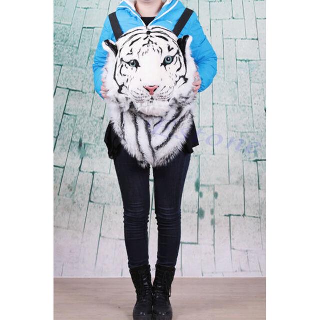 Unisex Creative Animal Style Lifelike Tiger Head Bag Knapsack Spoof Backpack