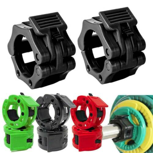 2X 25mm Weight Clamp Collar Olympic Dumbbell Gym Training Barbell Bar Lock Kit