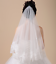 Wedding-Veils-Bridal-Accessories-Ivory-White-Champagne-Red-Drop-Veil-Fingertip thumbnail 8