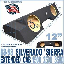 88-98 CHEVY SILVERADO / GMC SIERRA EXT EXTENDED CAB SUB BOX SUBWOOFER ENCLOSURE