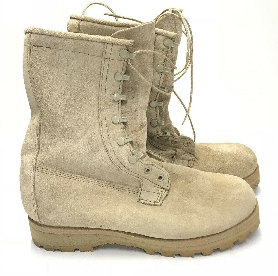 US Army Infantry Outdoor Tan Goretex Stiefel Boots Made USA 9XW Gr.43.5