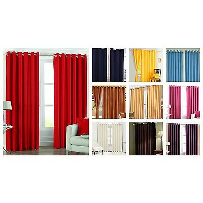 Elegence Plain Window - Door - Long Door - Eylet Curtain