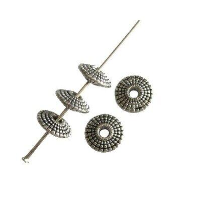 10 Perles intercalaire spacer Soucoupe 8.5x8.5x3mm Apprêts création bijoux /_A068